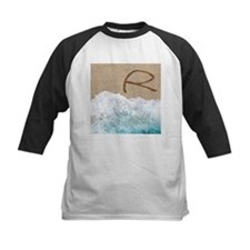 LETTERS IN SAND R Baseball Jersey