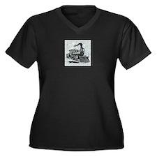 Train Women's Plus Size V-Neck Dark T-Shirt