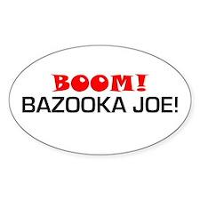 BOOM! Bazooka Joe! Oval Decal