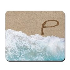 LETTERS IN SAND P Mousepad