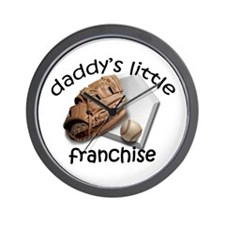 Baseball-Dad's Franchise Wall Clock