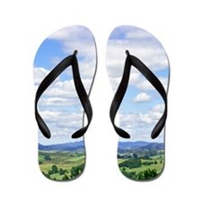 Summer Clouds New Zealand Flip Flops