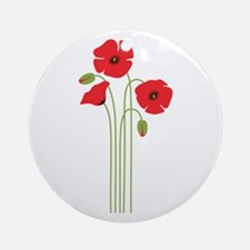 Poppy Flower Ornament (Round)