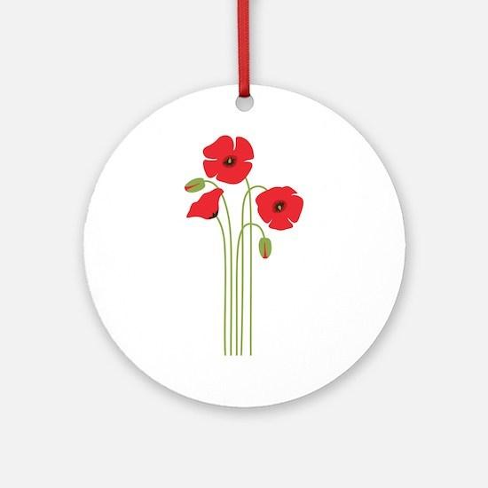 Poppy Flower Ornament (Round)