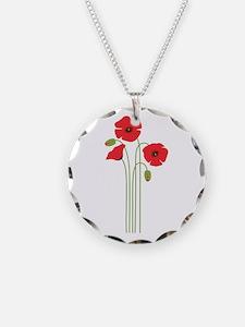 Poppy Flower Necklace