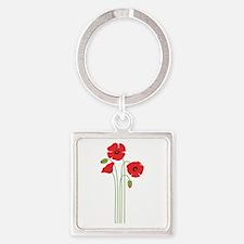 Poppy Flower Keychains