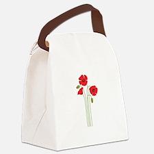 Poppy Flower Canvas Lunch Bag