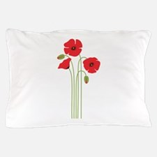 Poppy Flower Pillow Case