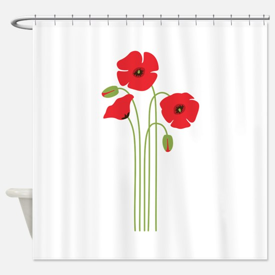 Poppy Flower Shower Curtain