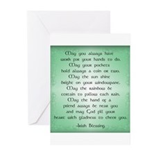 irish blessin Greeting Cards