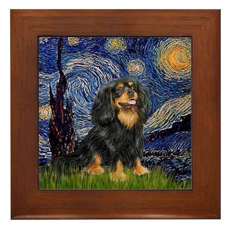 Starry Night Cavalier Framed Tile
