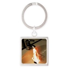 Hot Water Square Keychain
