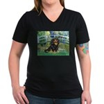 Bridge & Cavalier (BT) Women's V-Neck Dark T-Shirt