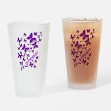 FIBROMYALGIA BUTTERFLIES 3 Drinking Glass
