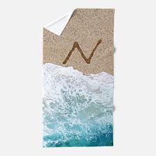 LETTERS IN SAND N Beach Towel