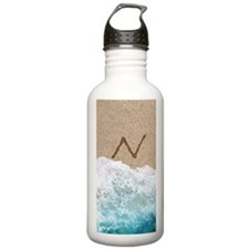 LETTERS IN SAND N Water Bottle