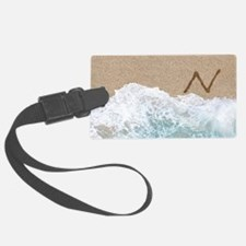 LETTERS IN SAND N Luggage Tag