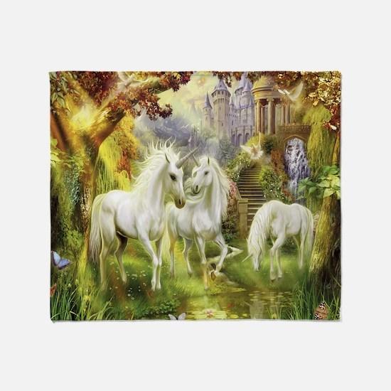 Beautiful Unicorns Throw Blanket