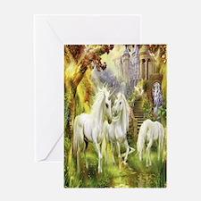 Beautiful Unicorns Greeting Cards