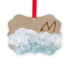 LETTERS IN SAND M Ornament