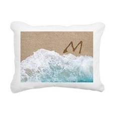 LETTERS IN SAND M Rectangular Canvas Pillow
