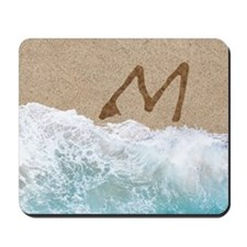 LETTERS IN SAND M Mousepad