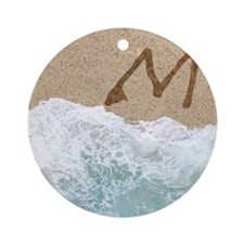 LETTERS IN SAND M Ornament (Round)