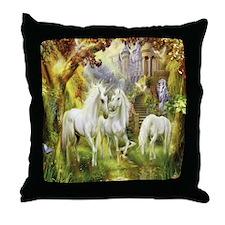 Beautiful Unicorns Throw Pillow