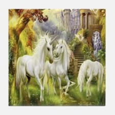 Beautiful Unicorns Tile Coaster