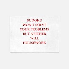 sudoku 5'x7'Area Rug