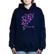 FIBROMYALGIA BUTTERFLIES Hooded Sweatshirt