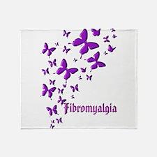 FIBROMYALGIA BUTTERFLIES Throw Blanket