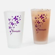 FIBROMYALGIA BUTTERFLIES Drinking Glass