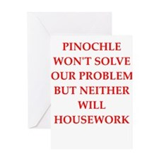 pinochle Greeting Cards