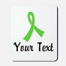 Personalized Lime Green Ribbon Awareness Mousepad
