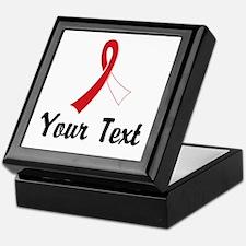 Personalized Red and White Ribbon Awa Keepsake Box