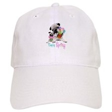 Happy Spring Pugs and Flowers Baseball Cap