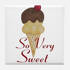 So Very Sweet Ice Cream Tile Coaster