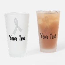 Personalized Pearl Ribbon Awareness Drinking Glass