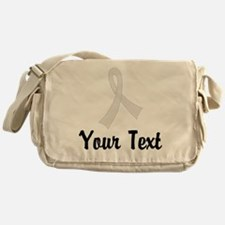 Personalized Pearl Ribbon Awareness Messenger Bag