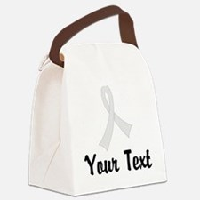 Personalized Pearl Ribbon Awarene Canvas Lunch Bag