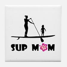 SUP_MOM Tile Coaster