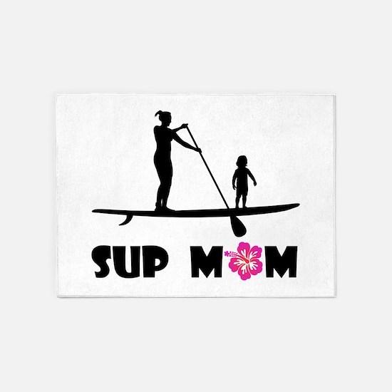 SUP_MOM 5'x7'Area Rug