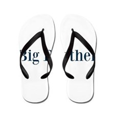 Blue Big Brother Flip Flops
