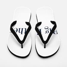 Blue Big Brother Flip Flops