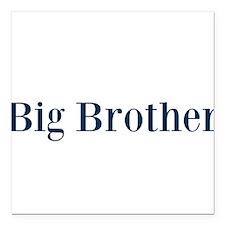 "Blue Big Brother Square Car Magnet 3"" x 3"""