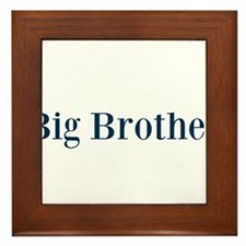 Blue Big Brother Framed Tile