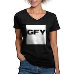GFY Women's V-Neck Dark T-Shirt