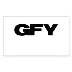 GFY Rectangle Decal
