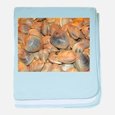Clams baby blanket